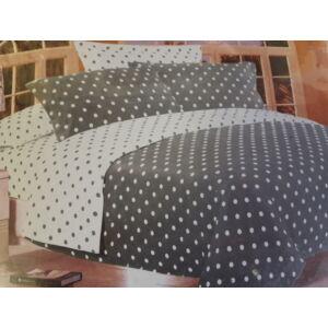 Minőségi ágynemű 100% pamut  7 részes szürke-fehér pöttyökkel
