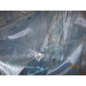 kék színű függöny arany csíkkal 300cmx250cm