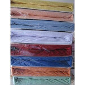 gumis frottír 100% pamut lepedő fehér színben 180cmx200cm