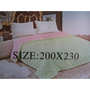 Nyári paplan 200cmx230cm halványzöld-rózsaszín színben