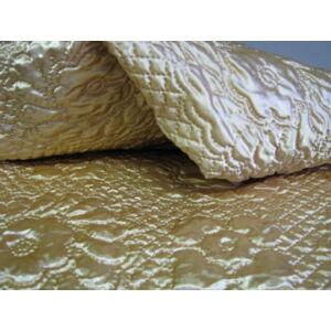 Ágytakaró párnákkal arany színben 200x210cm