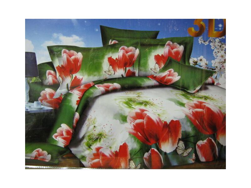 Minőségi ágynemű  7részes 3D ágynemű Virág mintával