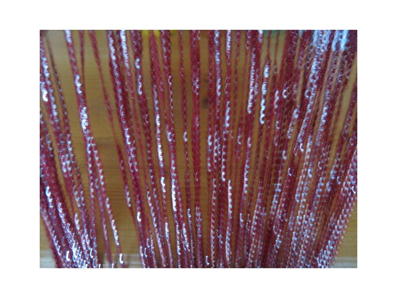 Spagettifüggöny bordó színben 100x200cm