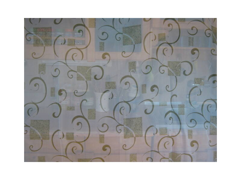 függöny zöld-arany  mintával 300cmx260cm