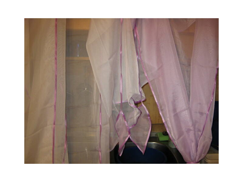 Különleges, egyedi függöny lila - fehér színben 740x150cm