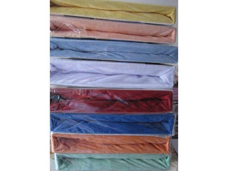 gumis frottír 100% pamut lepedő királykék színben 180cmx200cm