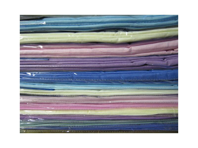 Lepedő világoskék színben 100%pamut 180cm x 220cm