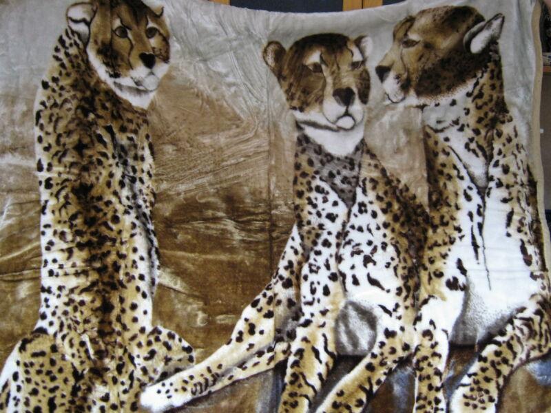 Vastag Gepárd mintájú takaró/pléd 230cm x 180cm