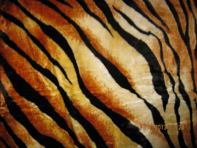 Vastag Tigriscsíkos mintájú takaró/pléd 230cm x 180cm