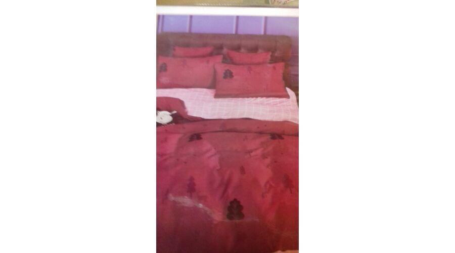 Kép 1 1 - Minőségi ágynemű 100% pamut 7 részes bordó-rózsaszín színben d907611184